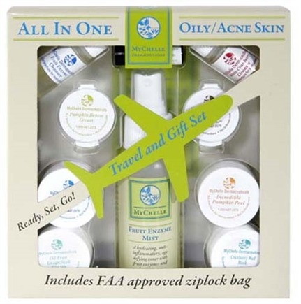 DROPPED: MyChelle Dermaceuticals - All In One Travel and Gift Set For Oily/Acne Skin - CLEARANCE PRICED