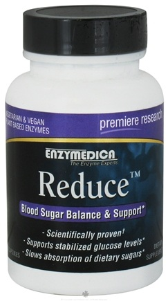 DROPPED: Enzymedica - Reduce with Glucoreductase Blood Sugar Balance - 30 Capsules CLEARANCE PRICED