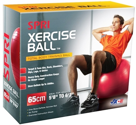 DROPPED: SPRI - Xercise Ball- Total Body Training with Pump and DVD-55 cm - 1 Ball(s)