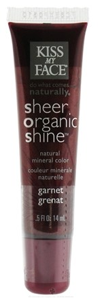 DROPPED: Kiss My Face - Sheer Organic Shine Natural Mineral Color Lip Gloss Garnet - 0.5 oz. CLEARANCE PRICED