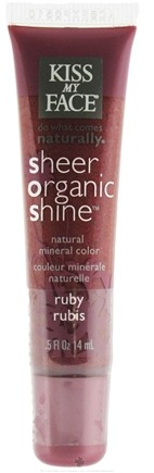 DROPPED: Kiss My Face - Sheer Organic Shine Natural Mineral Color Lip Gloss Ruby - 0.5 oz.