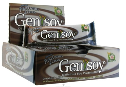 DROPPED: Genisoy - Soy Protein Bar Obsession Fudge Cookies & Cream - 2.2 oz. CLEARANCE PRICED
