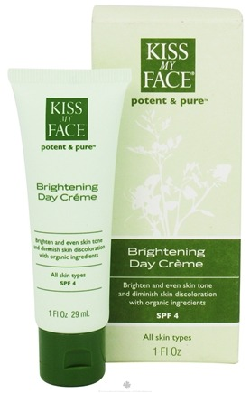 DROPPED: Kiss My Face - Potent & Pure Brightening Day Creme 4 SPF - 1 oz.