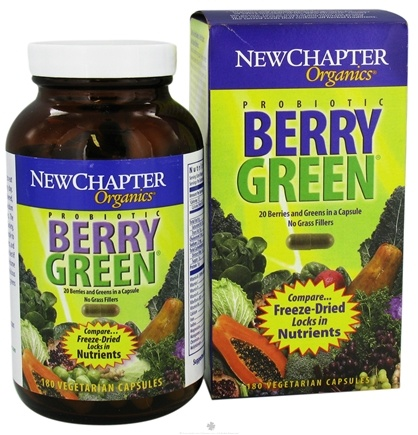 DROPPED: New Chapter -  Probiotic Berry Green - 180 Capsules