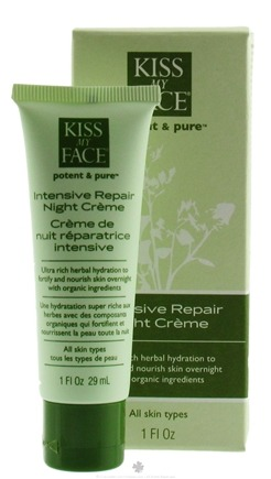 DROPPED: Kiss My Face - Potent & Pure Intensive Repair Night Creme - 1 oz.