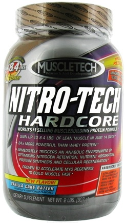 DROPPED: Muscletech Products - Nitro-Tech Hardcore Protein Powder Vanilla Cake Batter - 2 lbs.