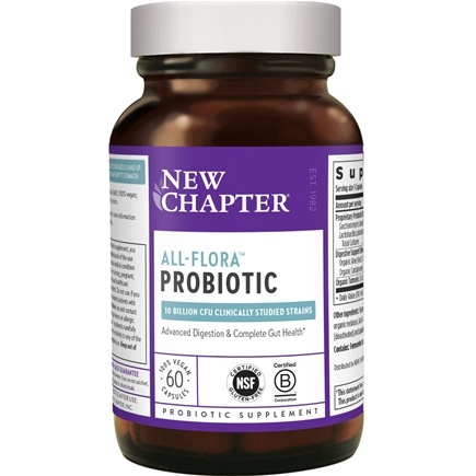DROPPED: New Chapter - Probiotic All Flora - 60 Vegetarian Capsules