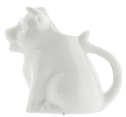 DROPPED: Harold Import - Mini Porcelain Moo Cow Creamer White - 2 oz. CLEARANCE PRICED