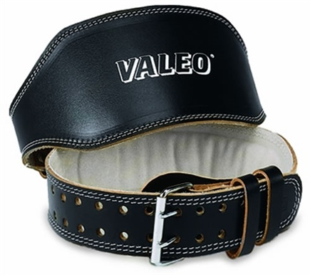 DROPPED: Valeo Inc. - Leather Lifting Belt 4 Inch- Black- Large