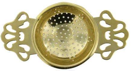 DROPPED: Harold Import - English Tea Strainer Gold Plated - CLEARANCE PRICED