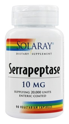 Solaray - Serrapeptase Enteric Coated 10 mg. - 90 Vegetarian Capsules