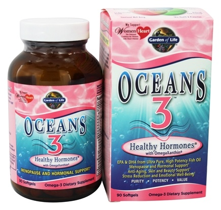 Garden of Life - Oceans 3 Healthy Hormones with OmegaXanthin - 90 Softgels