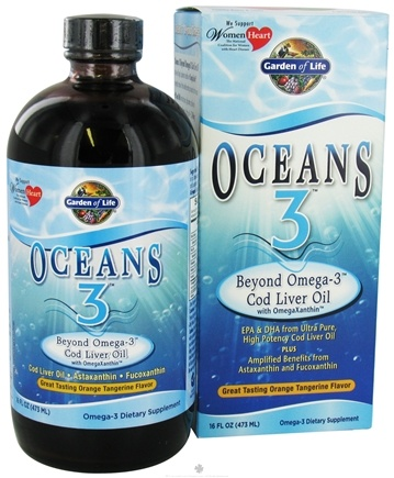 DROPPED: Garden of Life - Oceans 3 Beyond Omega-3 Cod Liver Oil Orange Tangerine - 16 oz.