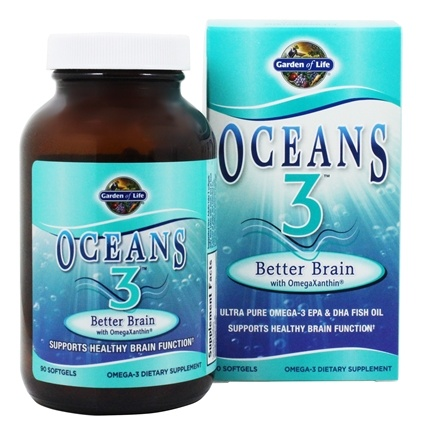Garden of Life - Oceans 3 Better Brain with OmegaXanthin - 90 Softgels