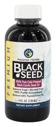 Amazing Herbs - Black Seed Cold-Pressed Oil - 4 oz.