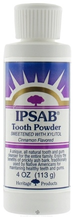 DROPPED: Heritage - IPSAB Tooth Powder Sweetened With Xylitol Cinnamon Flavored - 4 oz.