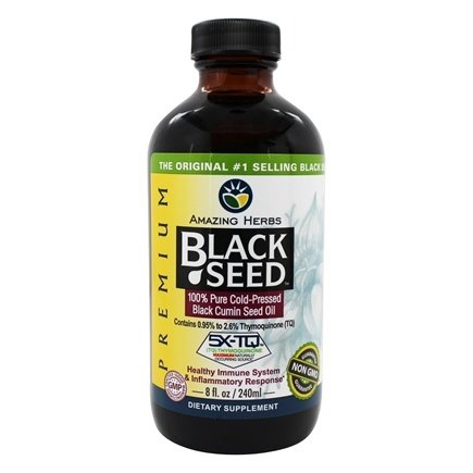 Amazing Herbs - Black Seed Cold-Pressed Oil - 8 oz.
