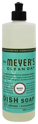 Mrs. Meyer's - Clean Day Liquid Dish Soap Basil - 16 oz.