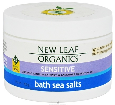 DROPPED: New Leaf Organics - Bath Sea Salts Sensitive - 12.3 oz. CLEARANCE PRICED