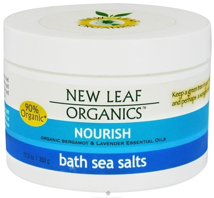 DROPPED: New Leaf Organics - Bath Sea Salts Nourish - 12.3 oz. CLEARANCE PRICED