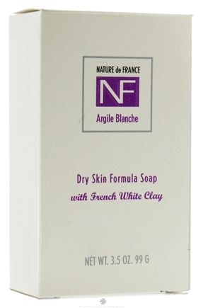 DROPPED: Nature de France - Bar Soap Dry Skin Formula Argile Blanche - 3.5 oz. CLEARANCE PRICED