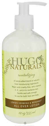 DROPPED: Hugo Naturals - All Over Lotion Revitalizing Lemon Verbena & Bergamot - 12 oz.