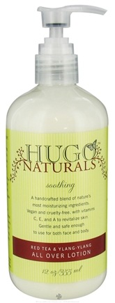DROPPED: Hugo Naturals - All Over Lotion Soothing Red Tea & Ylang-Ylang - 12 oz. CLEARANCE PRICED
