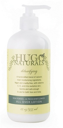 DROPPED: Hugo Naturals - All Over Lotion Detoxifying Sea Fennel & Passionflower - 12 oz.