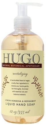 DROPPED: Hugo Naturals - Liquid Hand Soap Revitalizing Lemon Verbena & Bergamot - 12 oz.