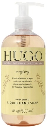 DROPPED: Hugo Naturals - Liquid Hand Soap Balancing Unscented - 12 oz.