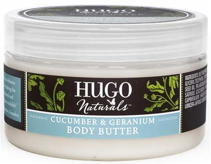 DROPPED: Hugo Naturals - Body Butter Soothing Cucumber & Geranium - 4 oz. CLEARANCE PRICED