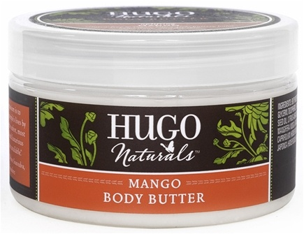 DROPPED: Hugo Naturals - Body Butter Uplifting Mango & Sweet Orange - 4 oz. CLEARANCE PRICED