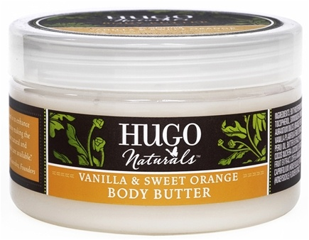 DROPPED: Hugo Naturals - Body Butter Comforting Vanilla & Sweet Orange - 4 oz. CLEARANCE PRICED