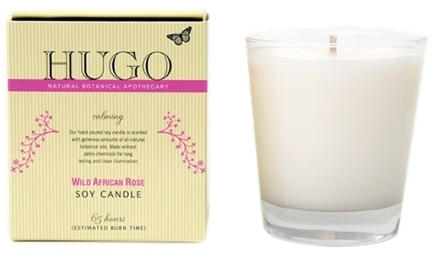 DROPPED: Hugo Naturals - Soy Candle Soothing Wild African Rose - CLEARANCE PRICED