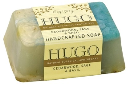 DROPPED: Hugo Naturals - Handcrafted Bar Soap Cedarwood Sage & Basil - 6 oz. CLEARANCE PRICED
