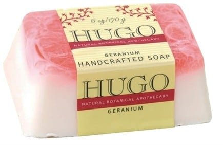 DROPPED: Hugo Naturals - Handcrafted Bar Soap Geranium - 6 oz. CLEARANCE PRICED