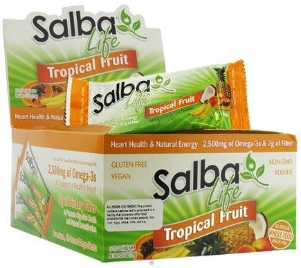 DROPPED: Salba Core Naturals - Salba Life Whole Food Bar Tropical Fruit - 1.7 oz.