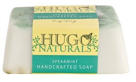 DROPPED: Hugo Naturals - Handcrafted Bar Soap Spearmint - 6 oz. CLEARANCE PRICED