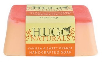 DROPPED: Hugo Naturals - Handcrafted Bar Soap Vanilla & Sweet Orange - 6 oz.