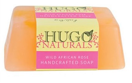 DROPPED: Hugo Naturals - Handcrafted Bar Soap Wild African Rose - 6 oz. CLEARANCE PRICED