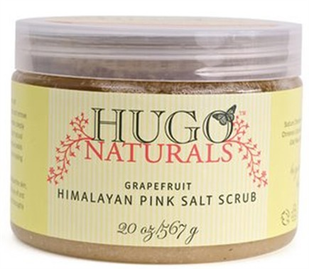 DROPPED: Hugo Naturals - Himalayan Pink Salt Scrub Energizing Grapefruit - 20 oz. CLEARANCE PRICED
