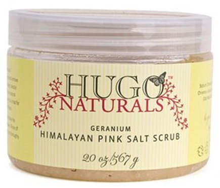 DROPPED: Hugo Naturals - Himalayan Pink Salt Scrub Balancing Geranium - 20 oz. CLEARANCE PRICED