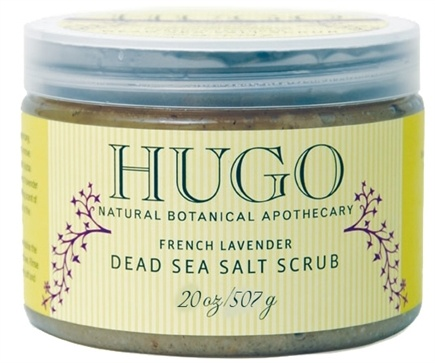 DROPPED: Hugo Naturals - Dead Sea Salt Scrub Calming French Lavender - 20 oz.