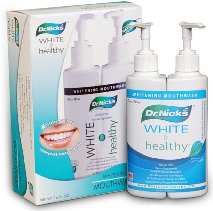 DROPPED: Dr. Nick's - White & Healthy Whitening Mouthwash Polar Mint - 16 oz. CLEARANCE PRICED