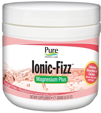 DROPPED: Pure Essence Labs - Ionic-Fizz Magnesium Plus Sugar Free CLEARANCE PRICED Raspberry Lemonade Flavor - 6 oz.