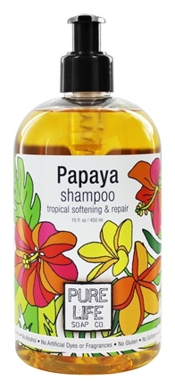Pure Life Soap Co. - Shampoo Papaya - 15 oz.