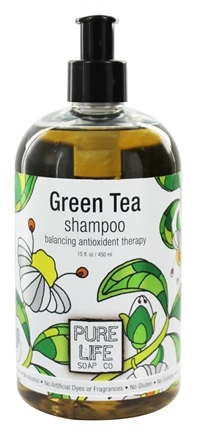 Pure Life Soap Co. - Green Tea Shampoo - 15 oz.