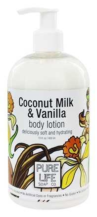 Pure Life Soap Co. - Body Lotion Coconut Milk & Vanilla - 15 oz.