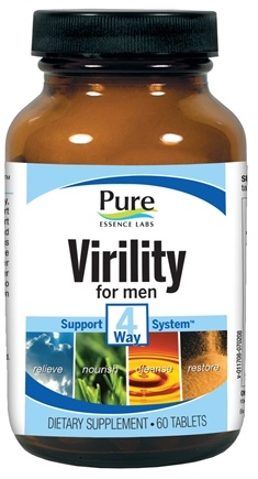 DROPPED: Pure Essence Labs - Virility For Men 4 Way Support System - 60 Tablets