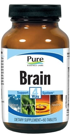 DROPPED: Pure Essence Labs - Brain 4 Way Support System - 60 Tablets